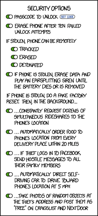 Cartoonist XKCD creates the ultimate lost phone security system