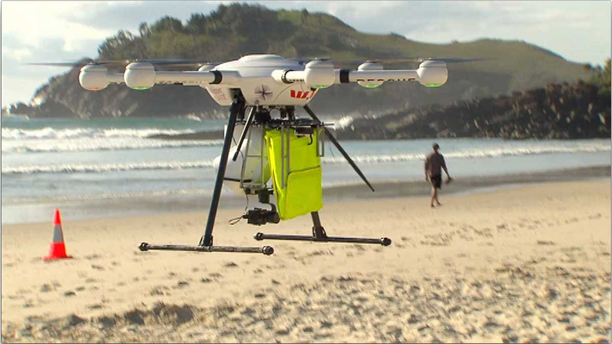 Lifeguard drone in Australia saves two boys on its first day of service