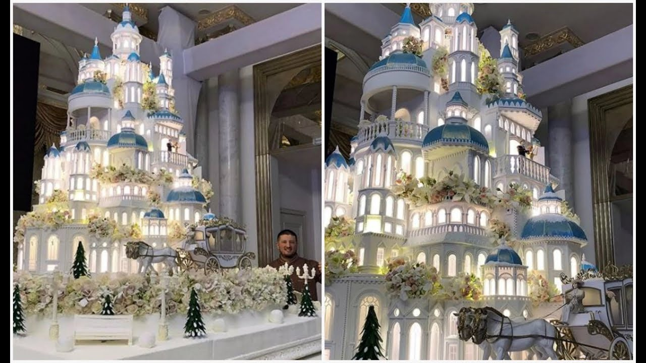 This is what a wedding cake for some Kazakh one percenters ...