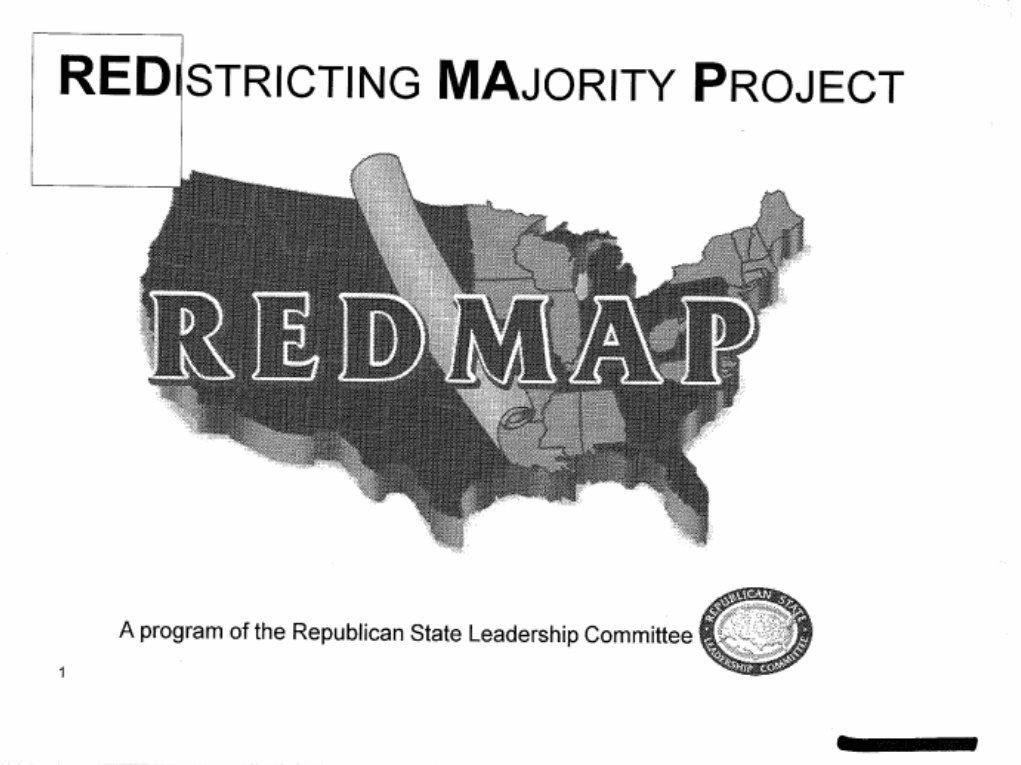 A pair of leaked powerpoints reveal the earliest-known evidence of the Republican gerrymandering plan that gave us Trump