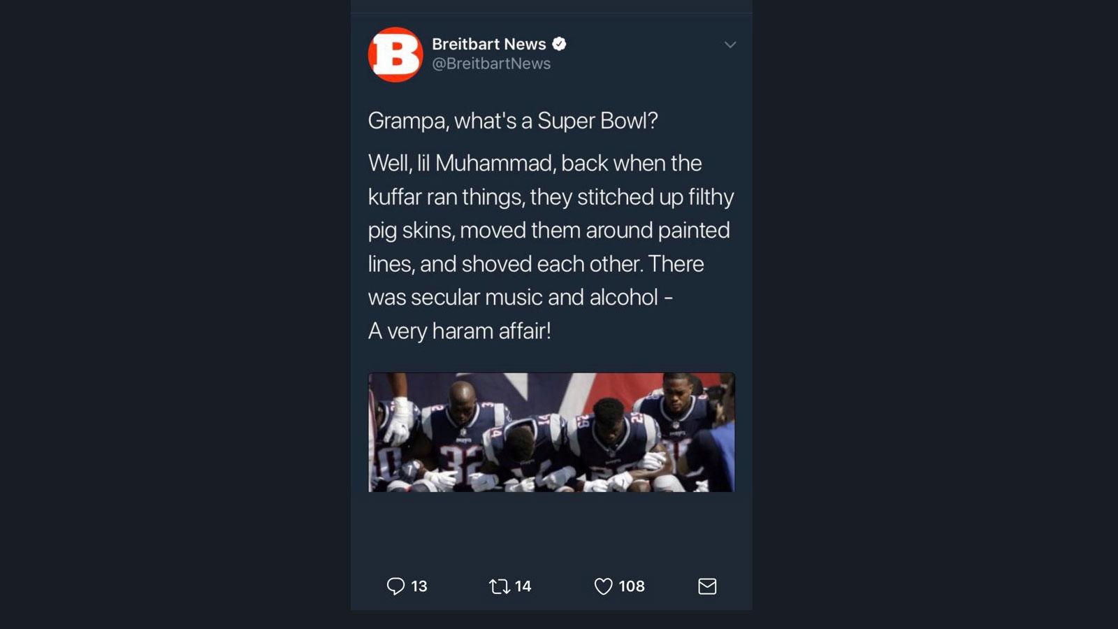 Breitbart deletes a tweet / Boing Boing