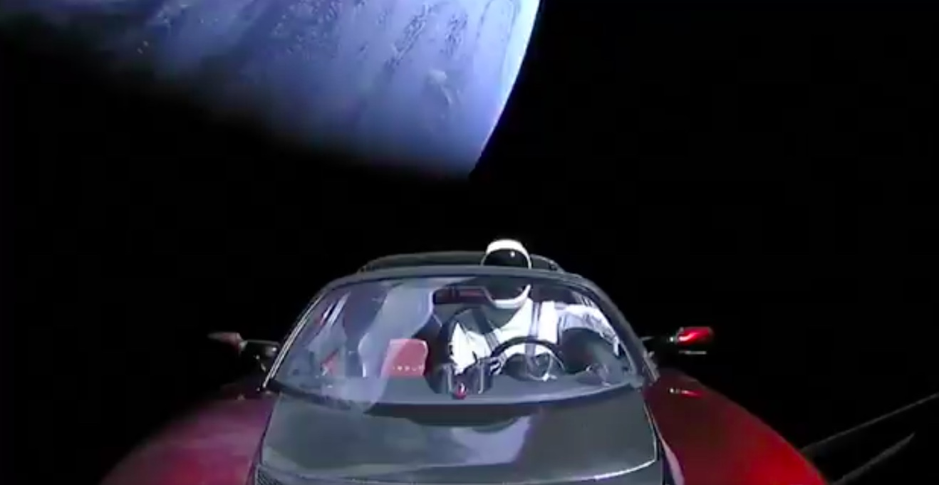 Car in Space: Elon Musk's mannequinned Tesla on Falcon