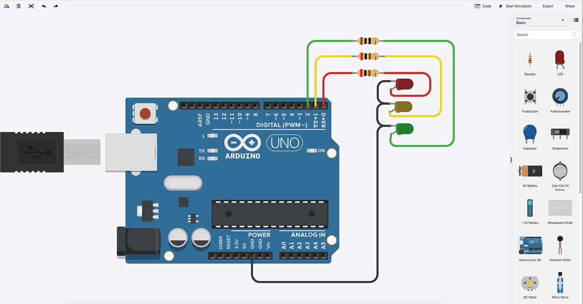 Tinkercad has a nifty arduino simulator sound books