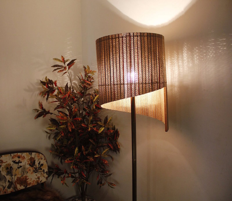 Gorgeous Lamps Made Of Repurposed Corrugated Cardboard
