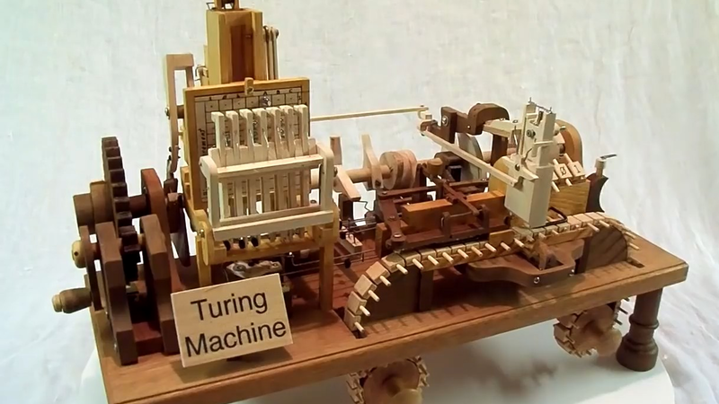 a mechanical wooden turing machine boing boing