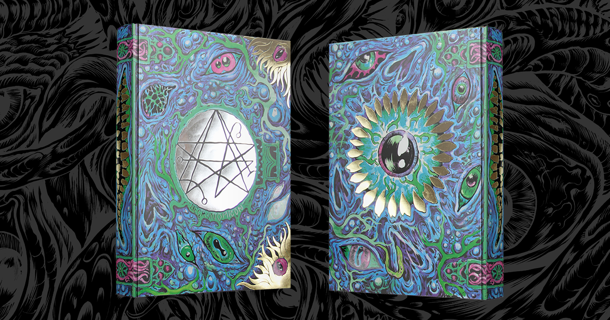 The psychedelic nightmares of the pop-up Necronomicon