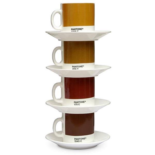 Pantone coffee mugs to match how you take it / Boing Boing