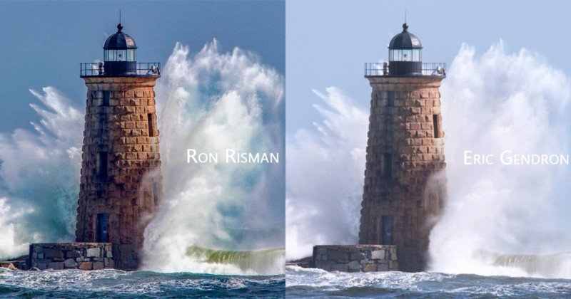 Two photographers, unbeknownst to one another, shoot the same picture at the same moment