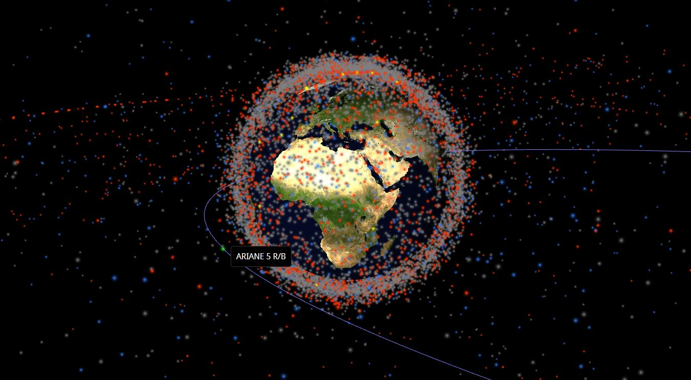 3d realtime map of objects in earth orbit