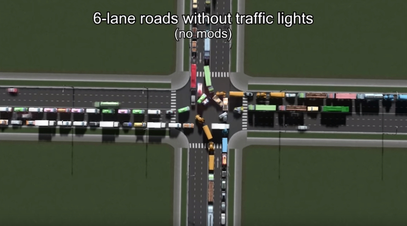 Watch traffic flow better in 30 simulations of a 4-way intersection