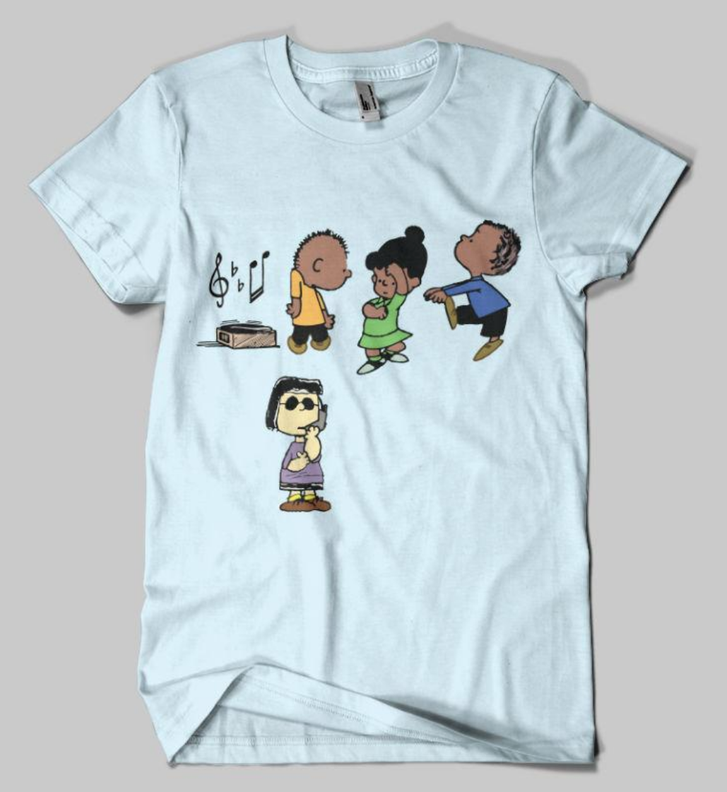 e640846e5c This  PEANUTSBBQ t-shirt shows Marcie of  The Peanuts  gang as the BBQ  snitch