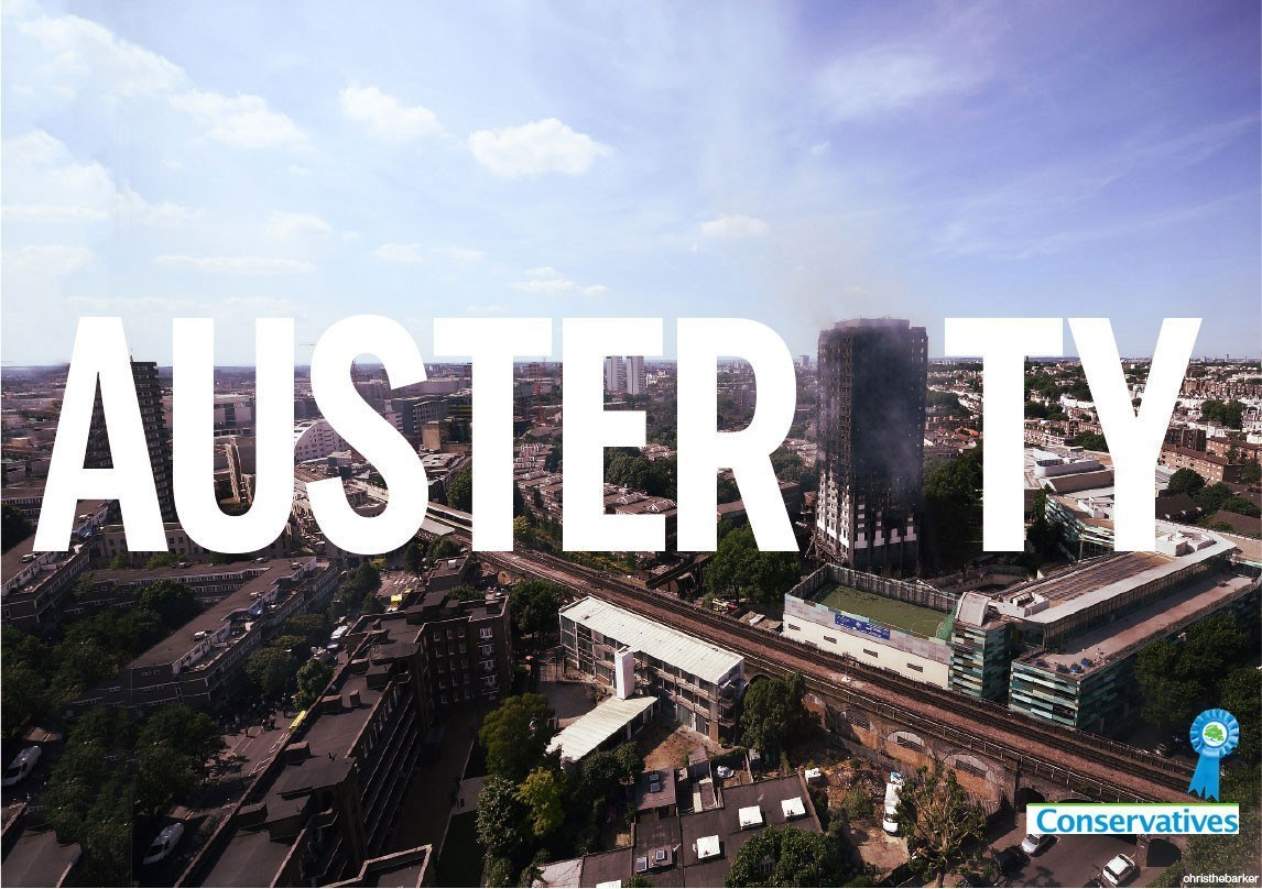 Image result for grenfell tower fire austerity