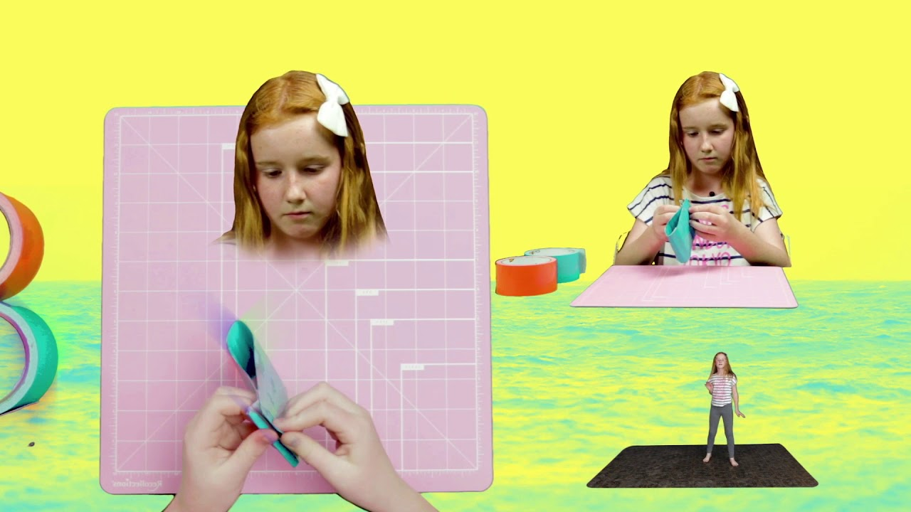 Magical video for kids: How to make a duct tape coin pouch