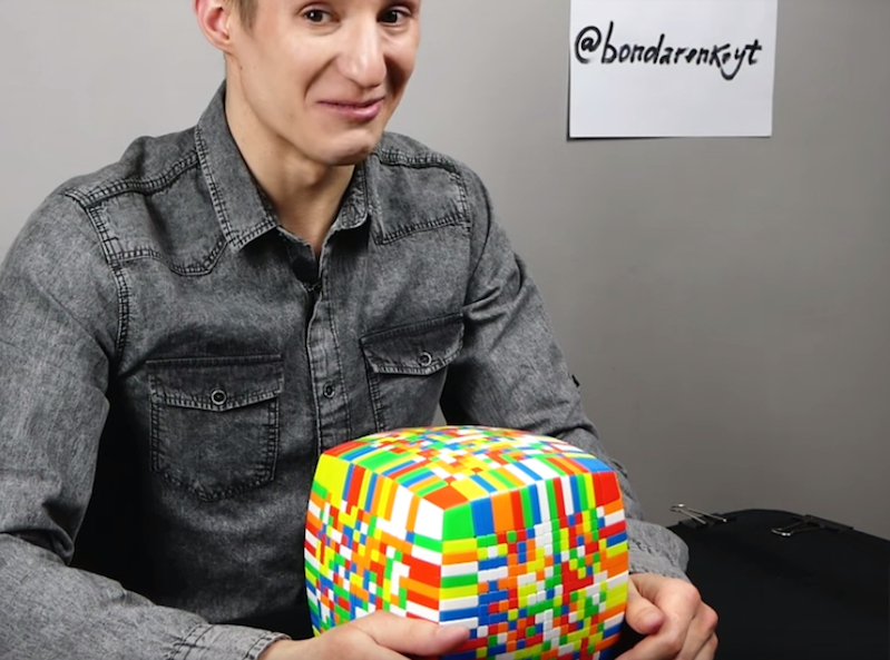 Watch this guy solve a 17x17x17 Rubik's Cube in under 5 hours