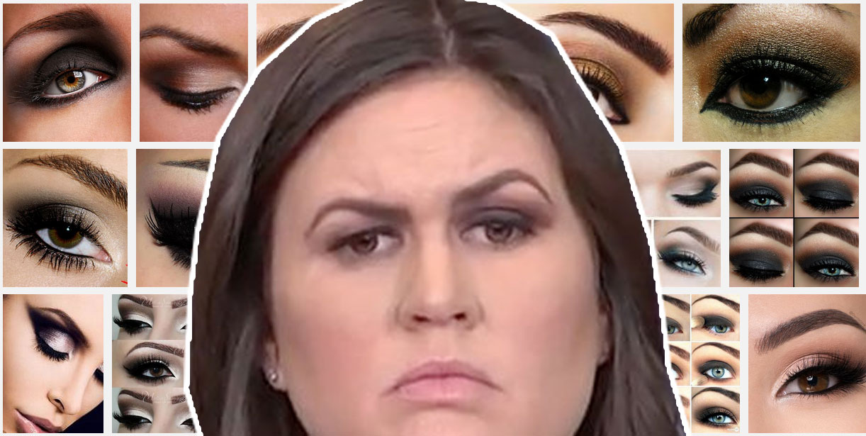 How To Do Smokey Eye As Well As Sarah Huckabee Sanders Boing Boing