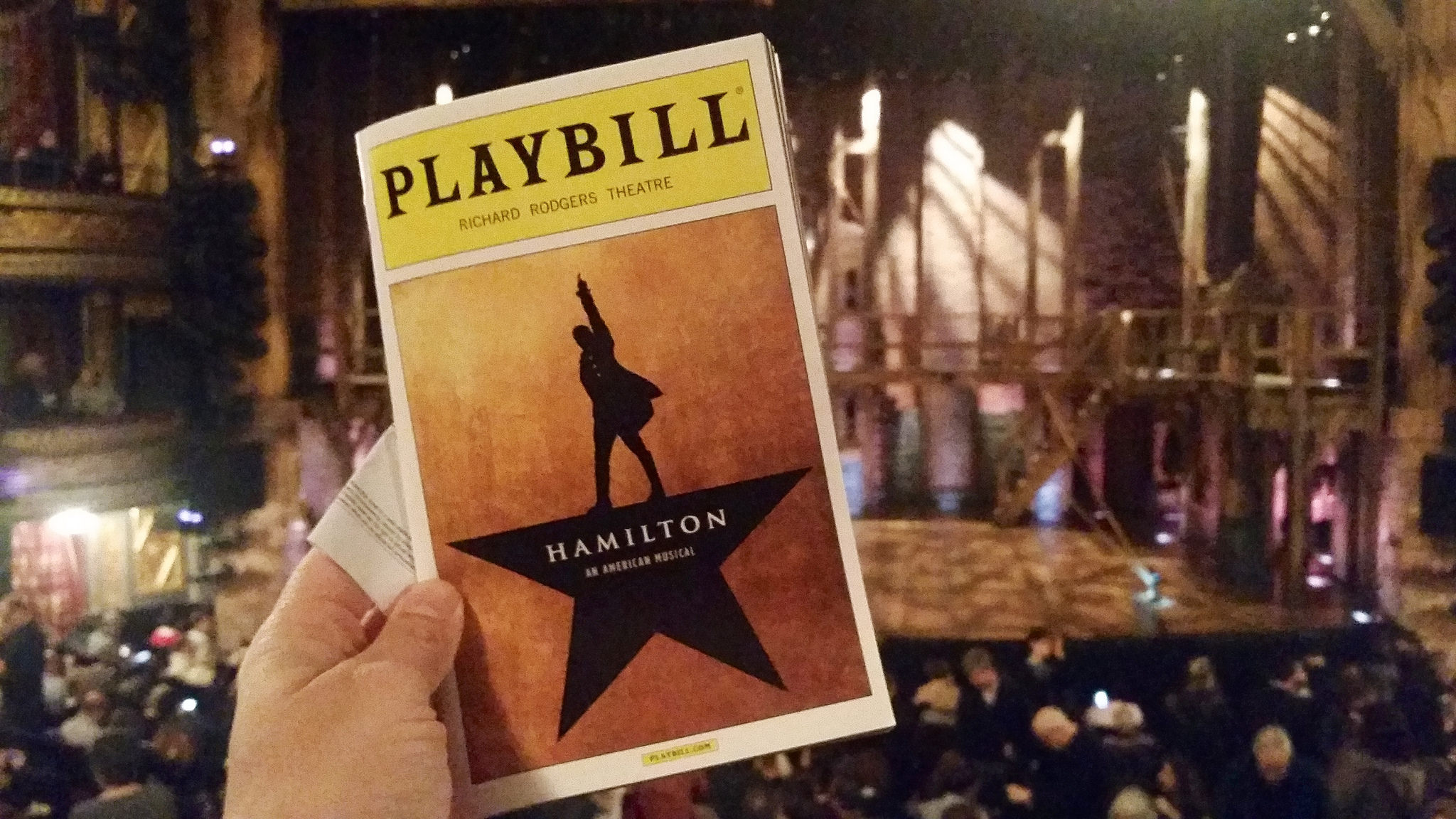 What inspired the Hamilton stage