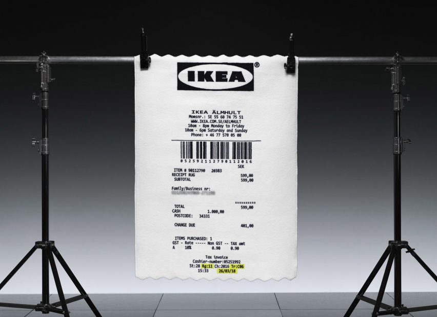 This Isn T An Ikea Receipt It S A Rug That Looks Like An