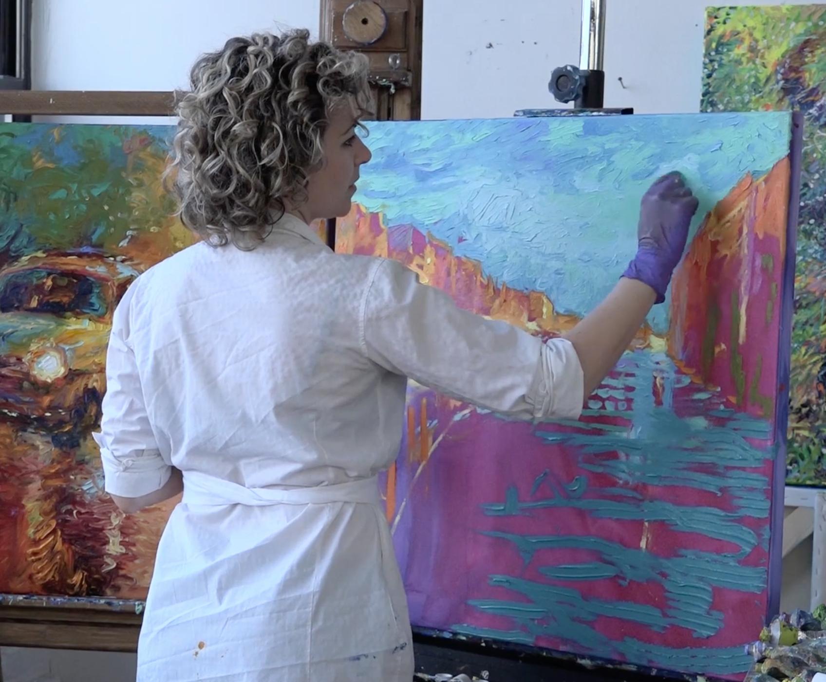 "Fine art finger painter Iris Scott talks about being ""gifted"""