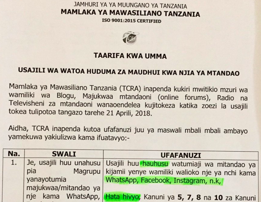 Tanzania's independent websites, podcasts and video channels have gone dark as the country's new blogger tax goes into effect