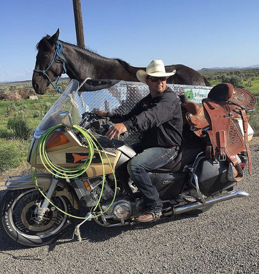This cowboy s motorcycle has a sidecar for his horse   Boing Boing 888230b86fa