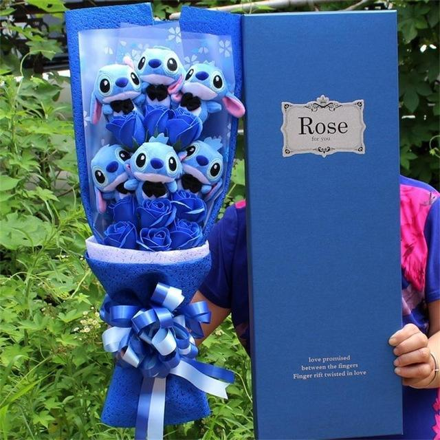 This Bouquet Is Made Up Of Stitch Plushies And Fake