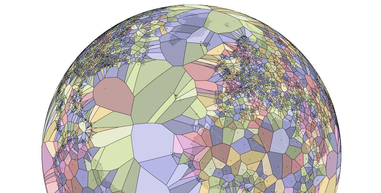 Voronoi Diagram Of Airports Boing Boing