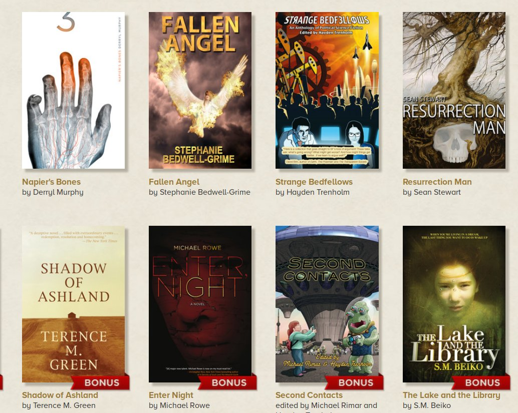 Pay what you like for DRM-free, award-winning Canadian sf