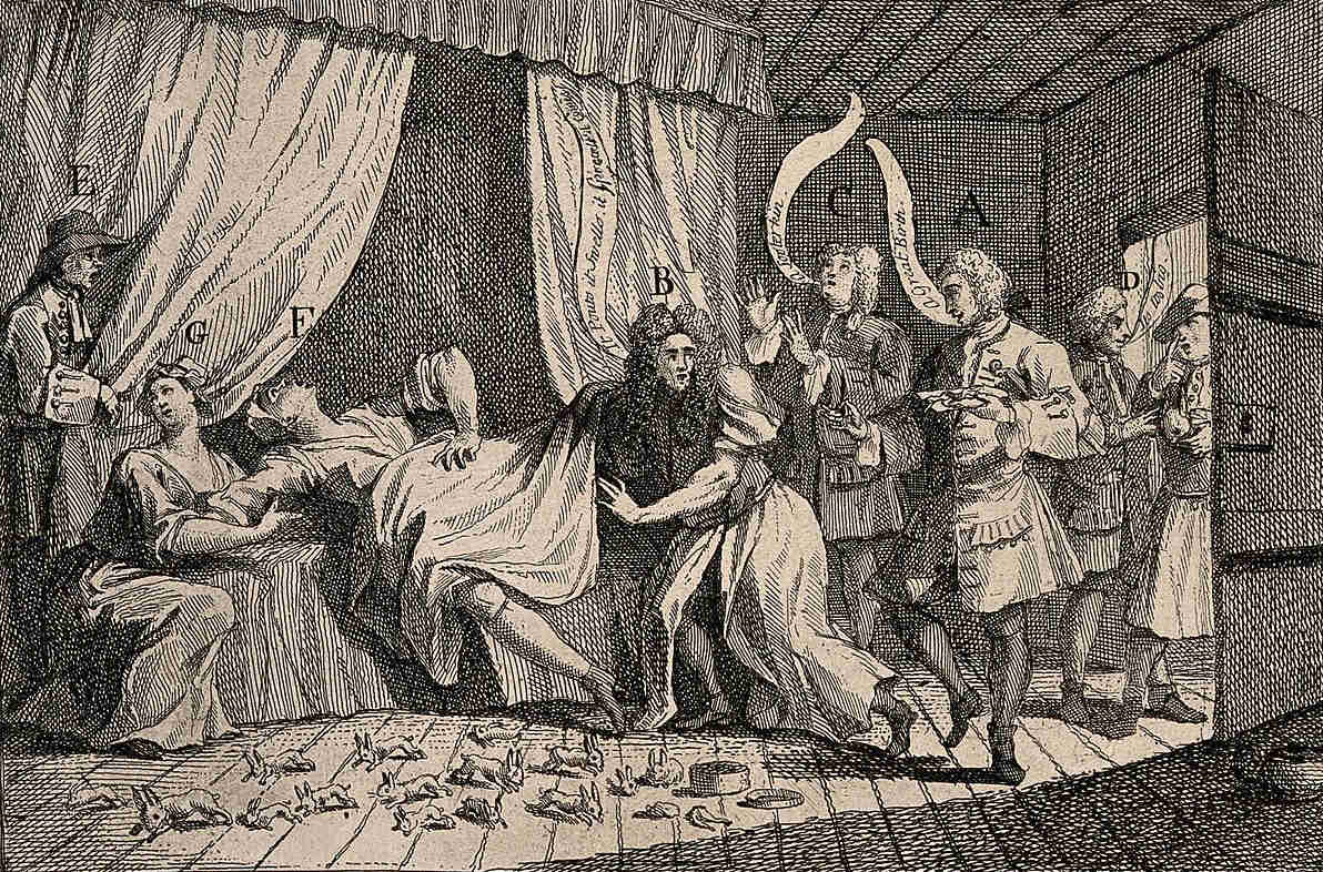 In 1726, Mary Toft gave birth to 17 rabbits