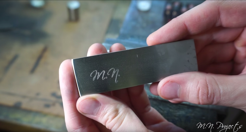 Here's an easy way to etch something on steel