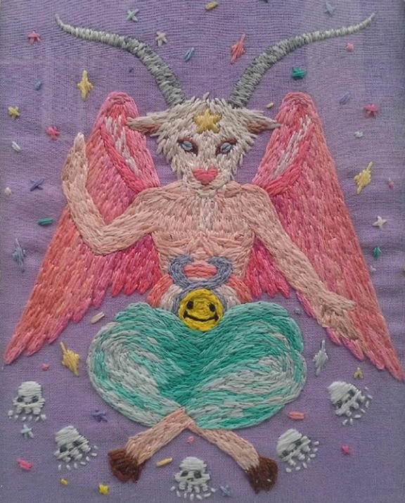 Baphomet embroidery and other marvels