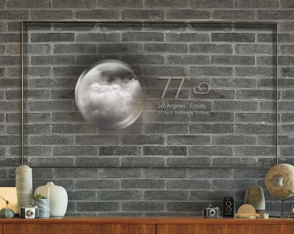 Samsung S Invisible Tv Uses A Hi Rez Picture Of The Wall Behind It