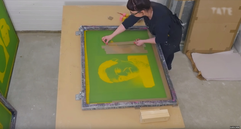 Watch how to make prints like Andy Warhol