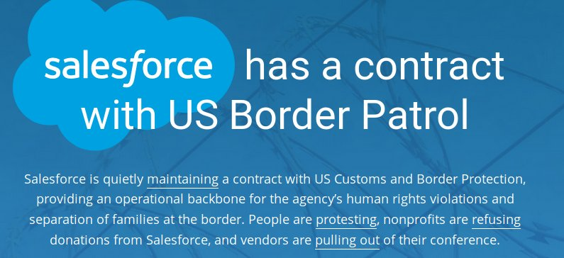 Salesforce faces boycott over Border Patrol contract