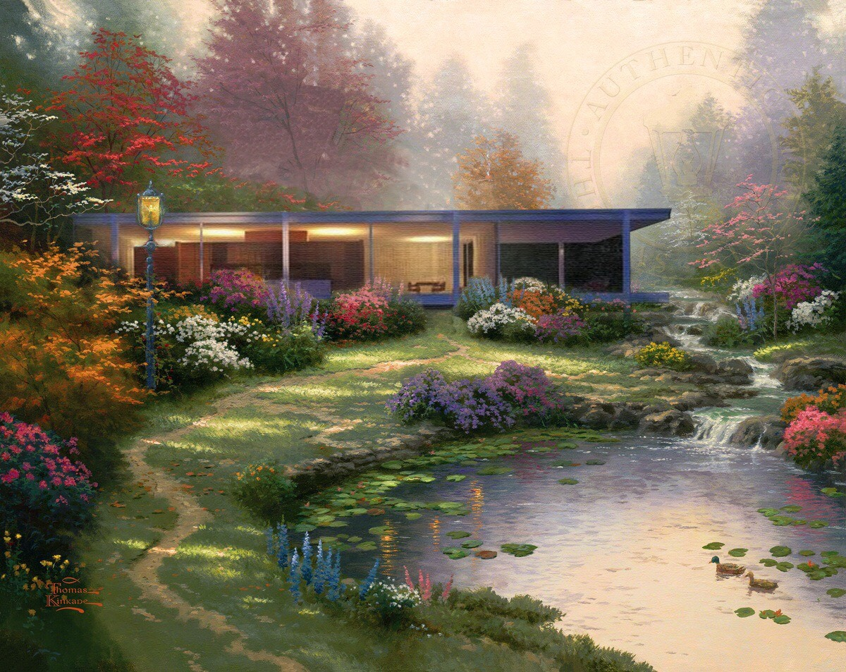 Modernist homes get a Thomas Kinkade-style makeover