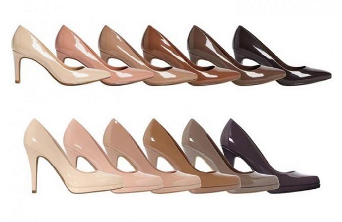 4395077ebfce British retailer offers  nude  heels in a variety of skin tones ...