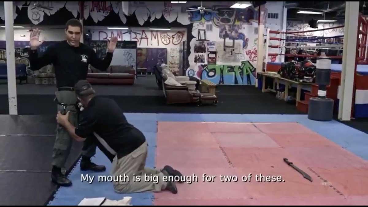 Sacha Baron Cohen convinces pro-gun activist to bite a dildo on his show