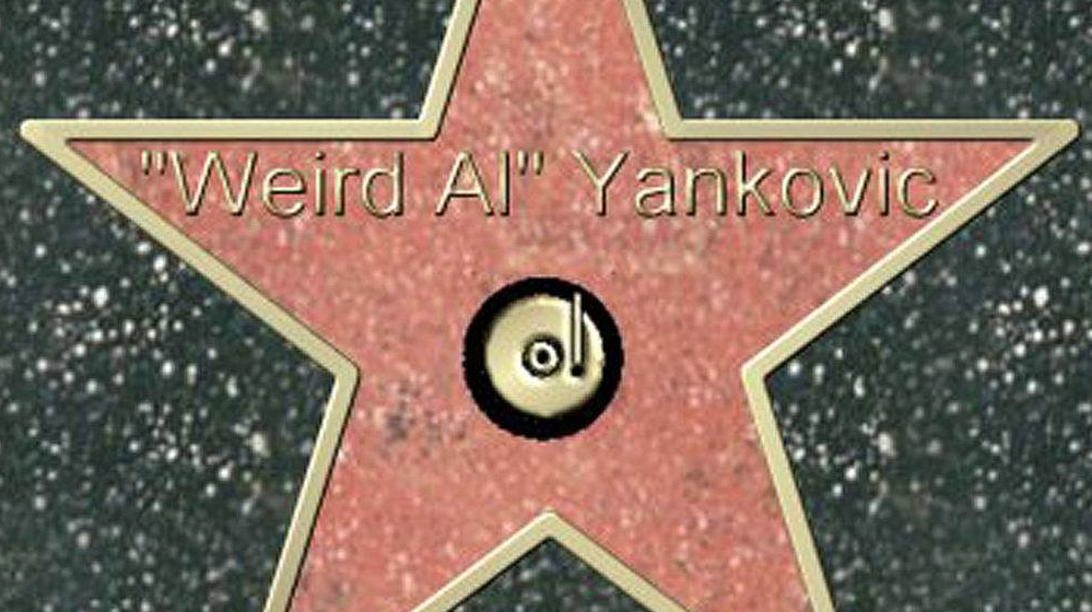 Weird Al getting his Hollywood Walk of Fame star