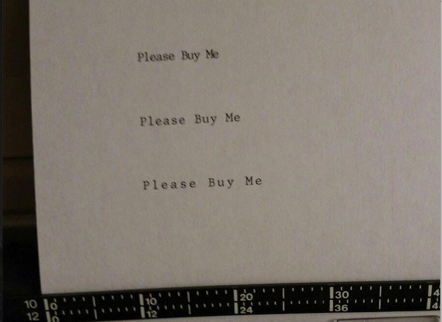 Slightly disturbing typewriter auction photos on ebay