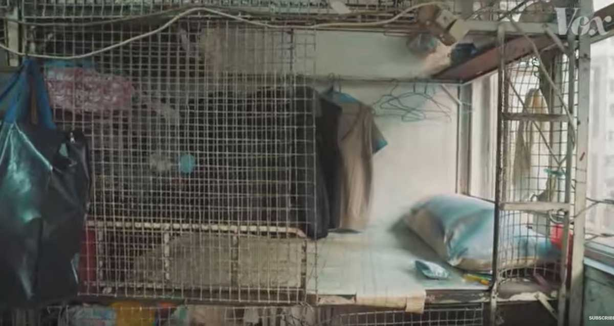 hong kong housing is so expensive that many people live in cages    boing boing