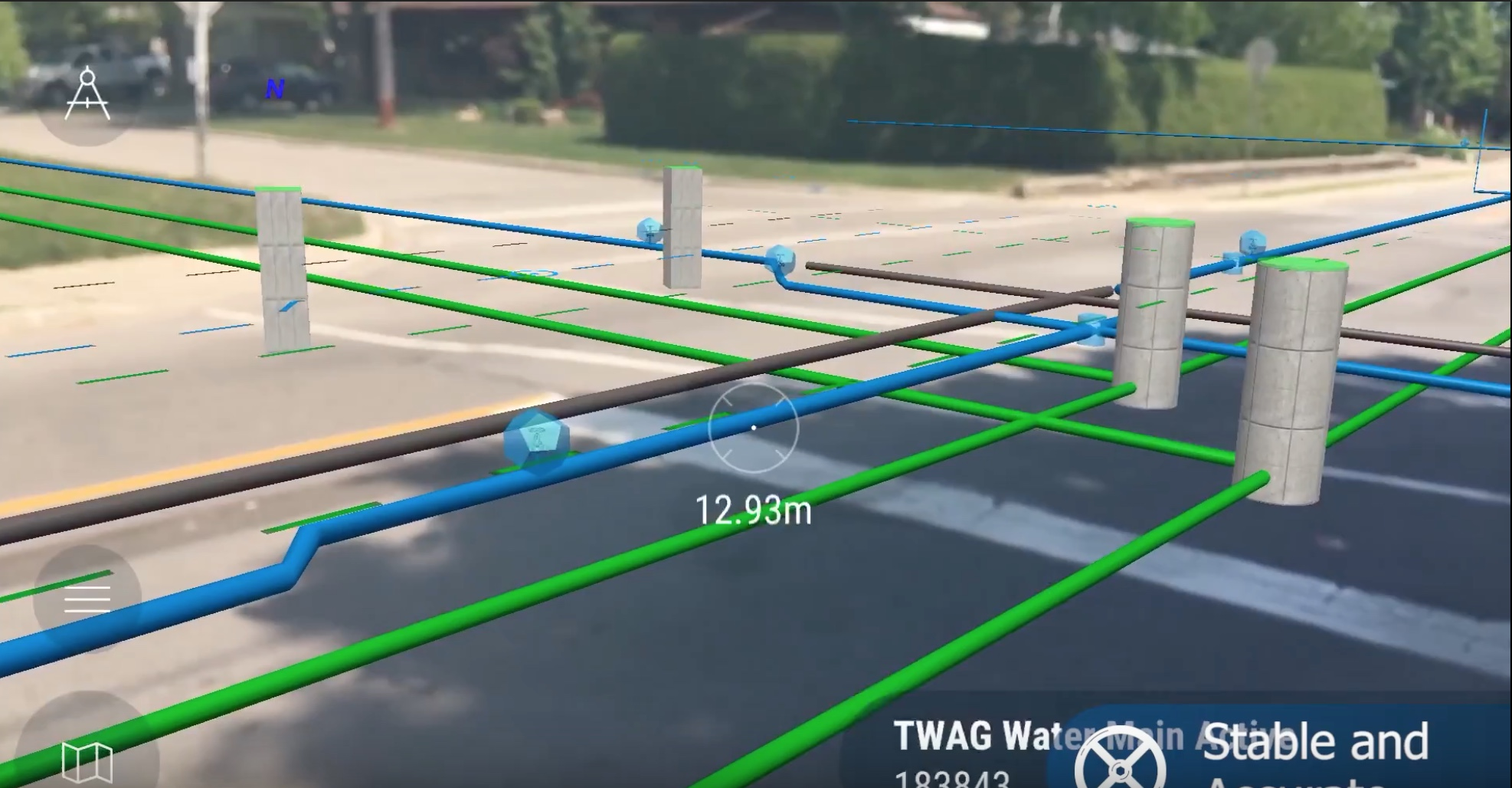 Augmented reality software shows where pipes and other underground structures are