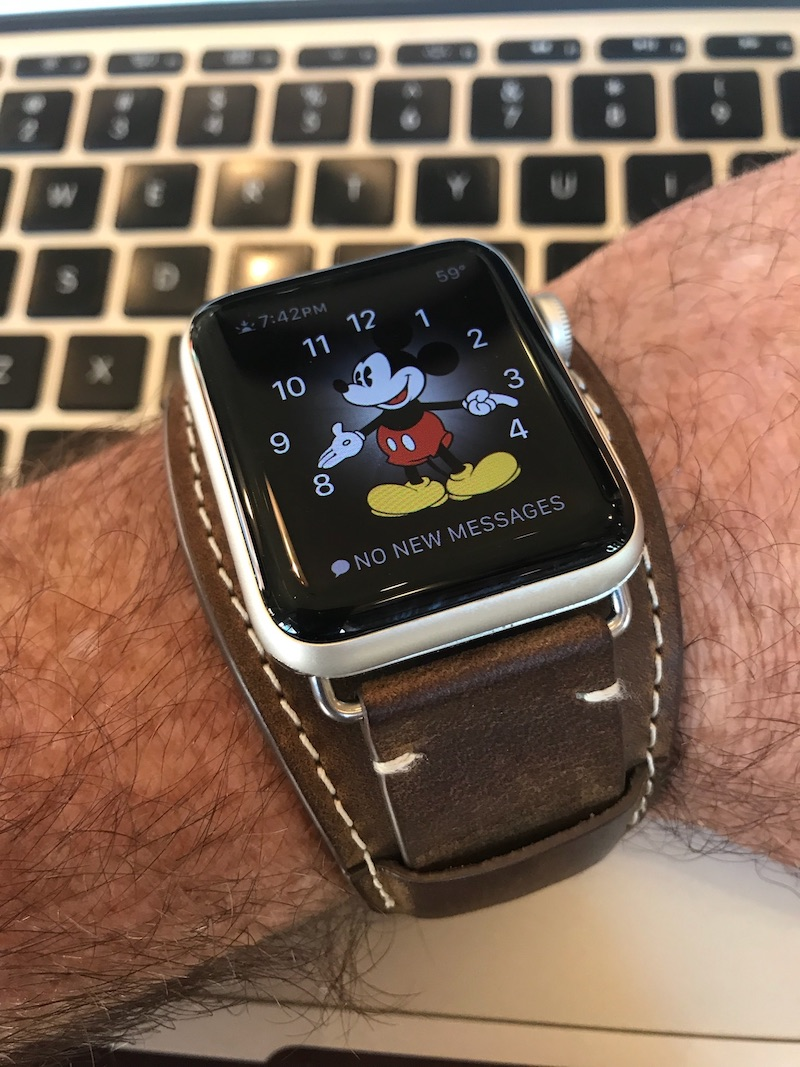 My favorite 70s style leather cuff of an Apple Watch band