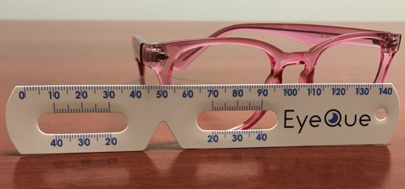 image relating to Printable Millimeter Ruler for Eyeglasses titled The $1.99 ruler that ways pupillary length (hence by yourself can