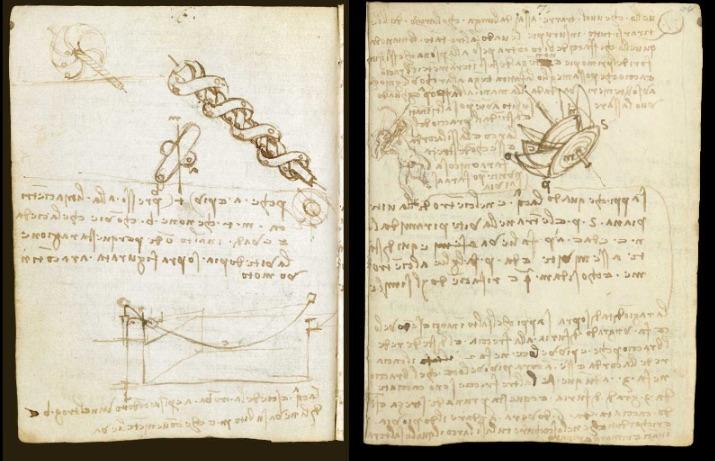 Marvelous scans of Leonardo da Vinci's journals