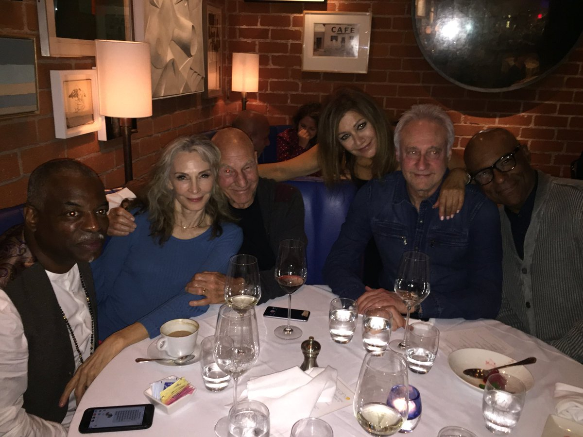 marina sirtis shares a dinner photo with pals from star trek the