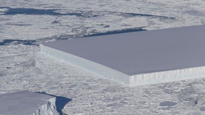 Perfectly rectangular iceberg