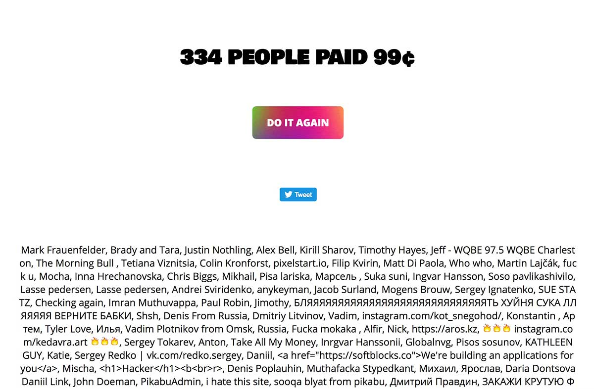 Website Charges 99 Cents To See Who Paid