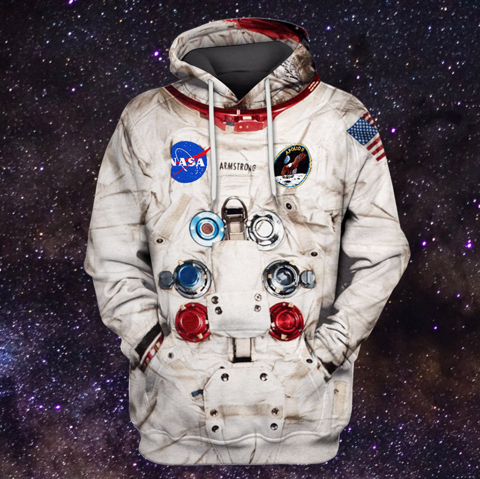 Can t help but love GearHumans  astronaut suit hoodie ( 45.99). The image  is a 3D-photo print of the spacesuit that Neil Armstrong wore in 1969  during his ... 281c8e46b8baf