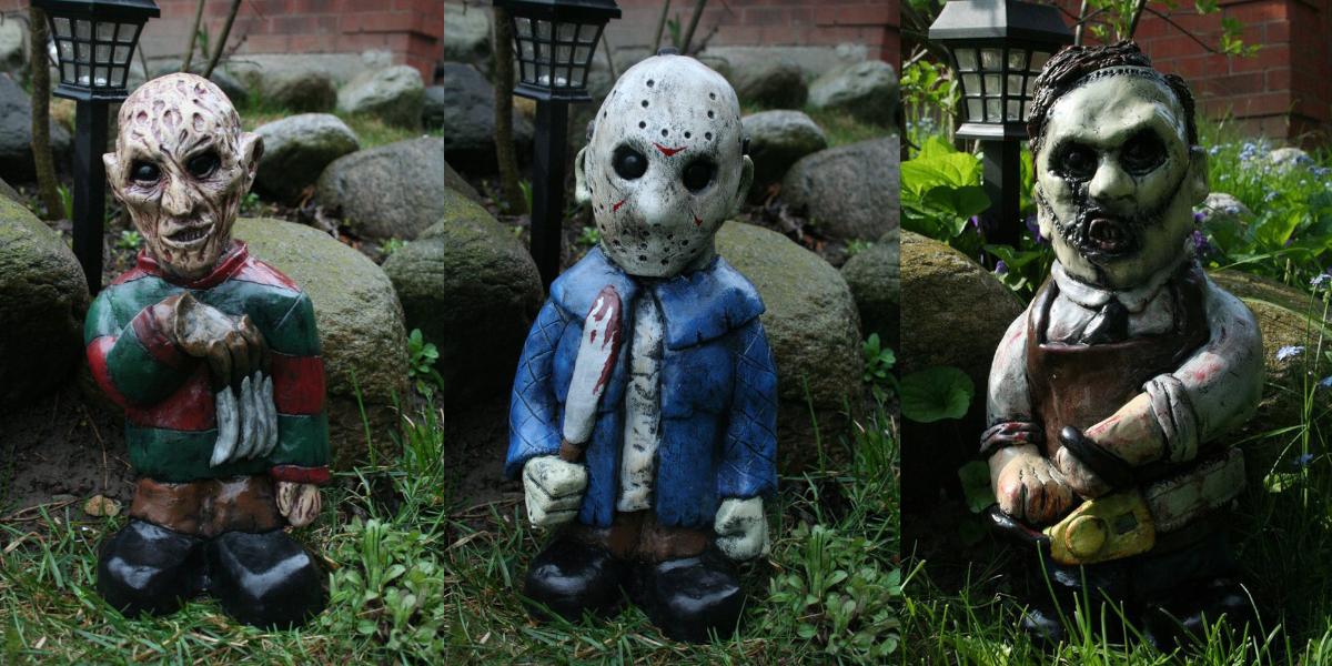 horror movie monster garden gnomes - Gnome Garden