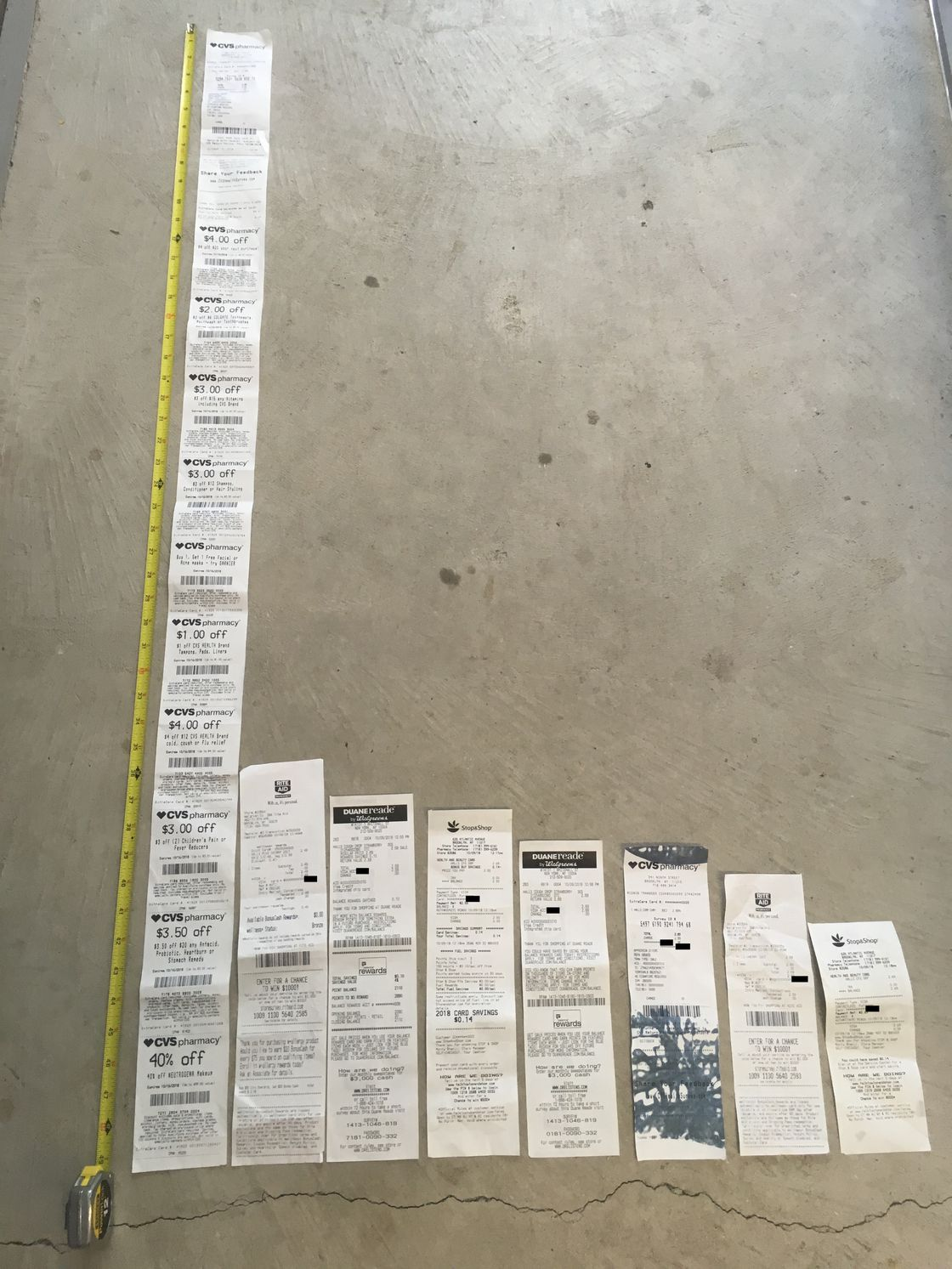 blame big data for cvs u0026 39 s endless miles of receipts    boing