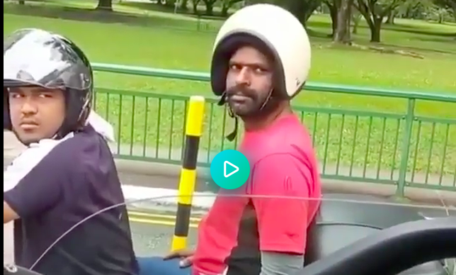 How not to wear a motorcycle helmet (funny video clip)